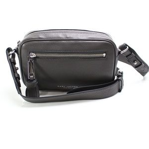 Marc Jacobs Gray Zoom Leather Crossbody Bag